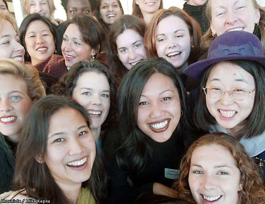 This group of Bay Area women are taking part in a nine-month training program for aspiring female politicians. Chronicle photo by Mike Kepka