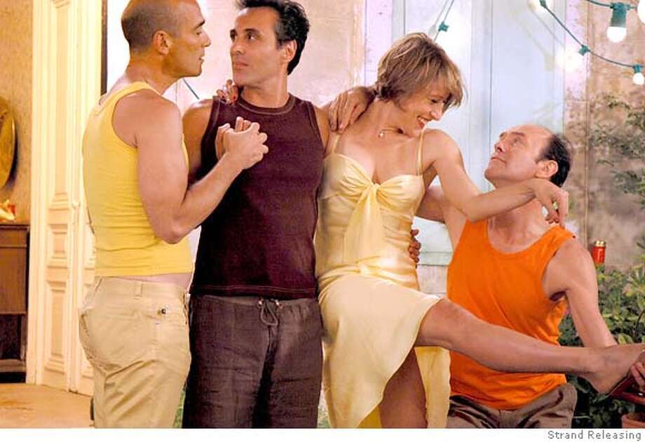 GAYFILM25 Jean-Marc Barr, Gilbert Melki, Valeria Bruni-Tedeschi, & Jacques Bonnaff� IN C�te d�Azur (Crustaces & Coquillages). Strand Releasing