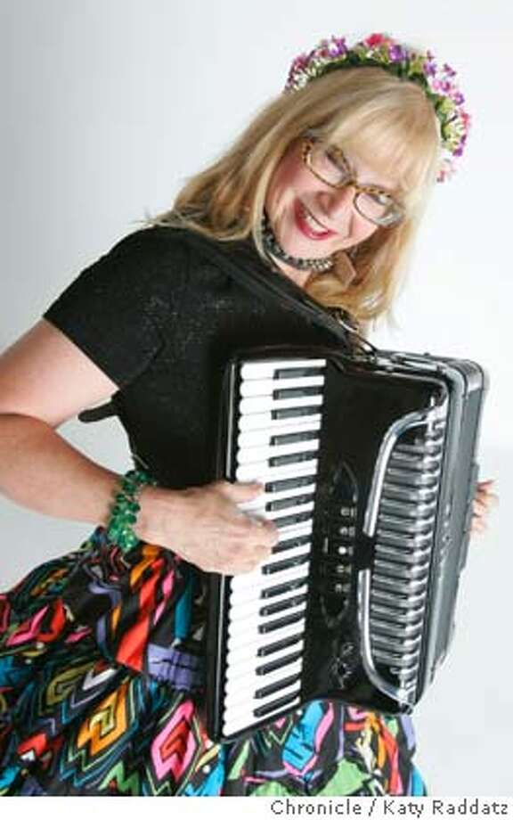 LIFE24024_RAD.JPG Big Lou the Accordion Princess (Linda Seekins). By day Linda is a seismologist working for the U.S. Geological Dept.; by night she's the glamorous Accordion Princess Big Lou. Marianne Costantinou writes for Datebook. Photo taken on 5/22/05, in SAN FRANCISCO, CA.  By Katy Raddatz / The San Francisco Chronicle MANDATORY CREDIT FOR PHOTOG AND SF CHRONICLE/ -MAGS OUT Photo: Katy Raddatz