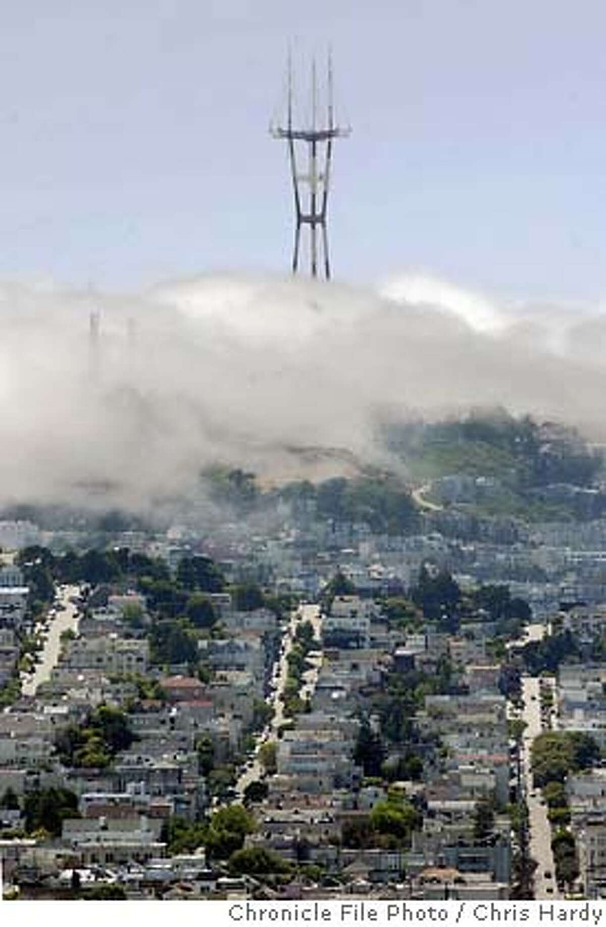 The Sutro tower on Twin Peaks.
