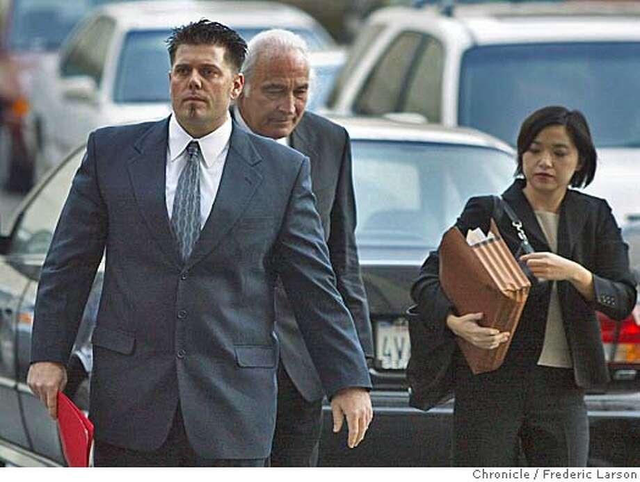 BALCO_020_fl.jpg �Greg Anderson (left) and his lawyers Tony Serra and Anna Ling enters the San Francisco Federal building for the Balco hearing in Judge Sudan Illston's courtroom.12/1/04 San Francisco CA Frederic Larson  The San Francisco Chronicle Photo: Frederic Larson