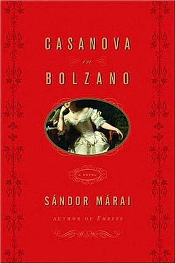 Book cover art for Casanova in Bolzano, by Sandor Marai.