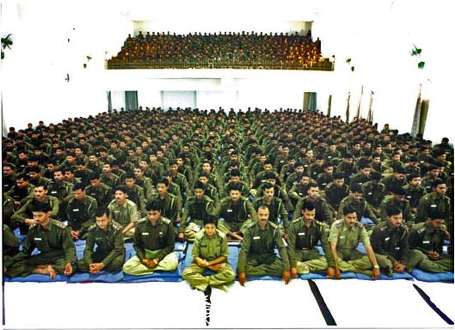 DOING27 1000 cadets and Kiran Bedi in Doing Time, Doing Vipassana. HANDOUT