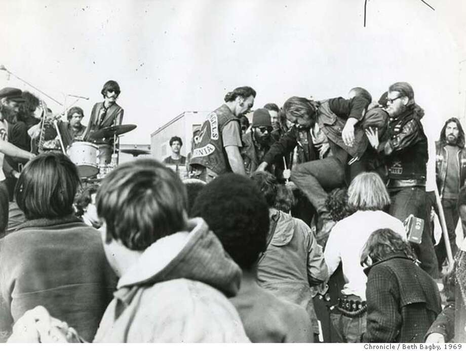 Images from the Rolling Stones concert at Altamont in Livermore, Dec. 1969. The Alameda county sheriff's department is reopening the case because they believethere may have been a second assailant in the murder of Meredith Hunter.