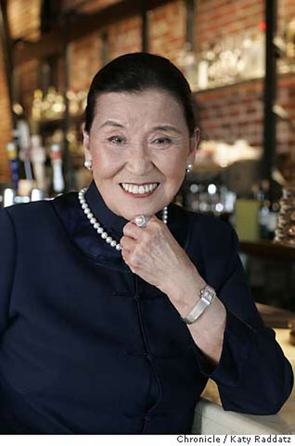 COOKSNIGHTOUT22019_RAD.JPG Cecilia Chiang (this is the correct spelling of her name), legendary food expert and owner of the late Mandarin Restaurant in San Francisco, is photographed at one of her personal favorite restaurants, Myth, 470 Pacific Ave. in San Francisco. Photo taken on 5/4/05, in SAN FRANCISCO, CA.  By Katy Raddatz / The San Francisco Chronicle MANDATORY CREDIT FOR PHOTOG AND SF CHRONICLE/ -MAGS OUT Photo: Katy Raddatz