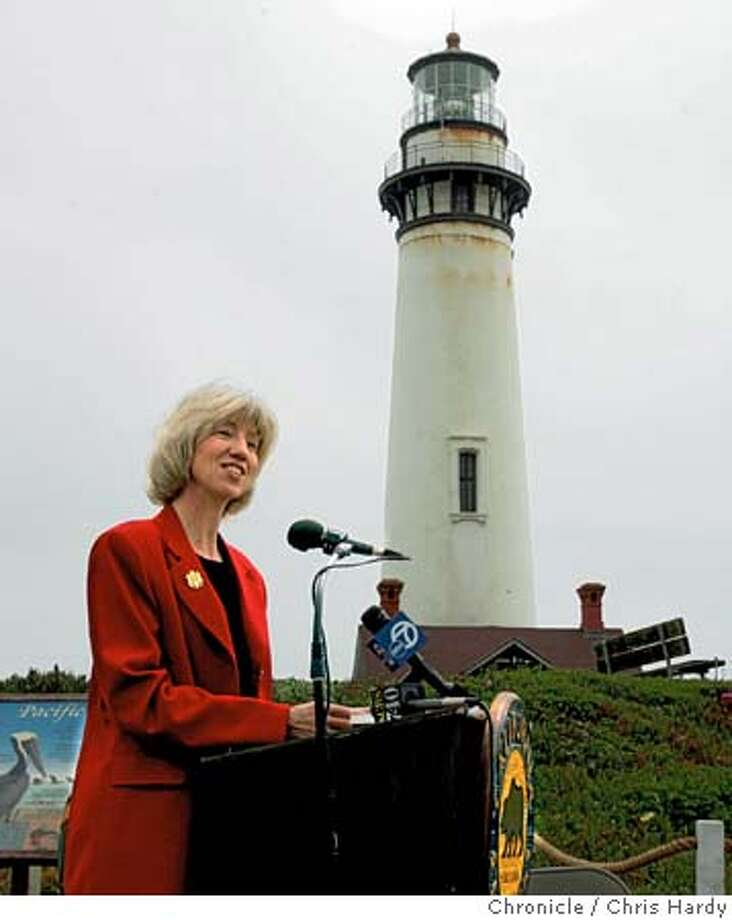 norton_ch52.jpg  Secretary of the Interior Gale Norton makes a speech before handing over ownership of the Pigeon Point lighthouse to the California State Parks dept. 5/25/05 Chris Hardy / San Francisco Chronicle Photo: Chris Hardy