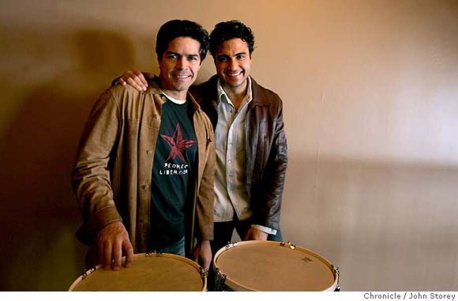 ESAI_jrs_0200.jpg  The stars of The Mambo Kings which opens in San Francisco in a few weeks. Esai Morales (left) and JAIME CAMIL.  John Storey San Francisco Event on 5/13/05 MANDATORY CREDIT FOR PHOTOG AND SF CHRONICLE/ -MAGS OUT Photo: John Storey