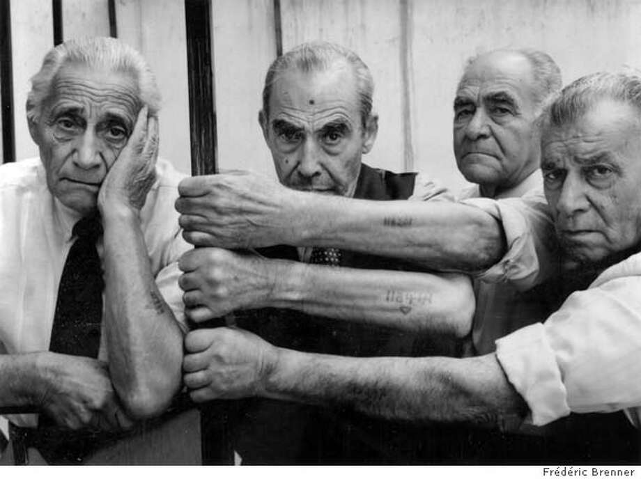 """Four Survivors: Sam Profettas, Mois Amir, Avraham Robissa, Baruch Sevi"" 1991 by Fr�d�ric Brenner Salonika, Greece Ran on: 10-10-2004  &quo;Four Survivors: Sam Profettas, Mois Amir, Avraham Robissa, Baruch Sevi&quo; is the title of a 1991 photograph taken in Salonika, Greece, by Frederic Brenner that is in the show &quo;The Jewish Journey&quo; at the Contemporary Jewish Museum. Datebook#Datebook#Chronicle#11/29/2004#ALL#Advance##0422392910"