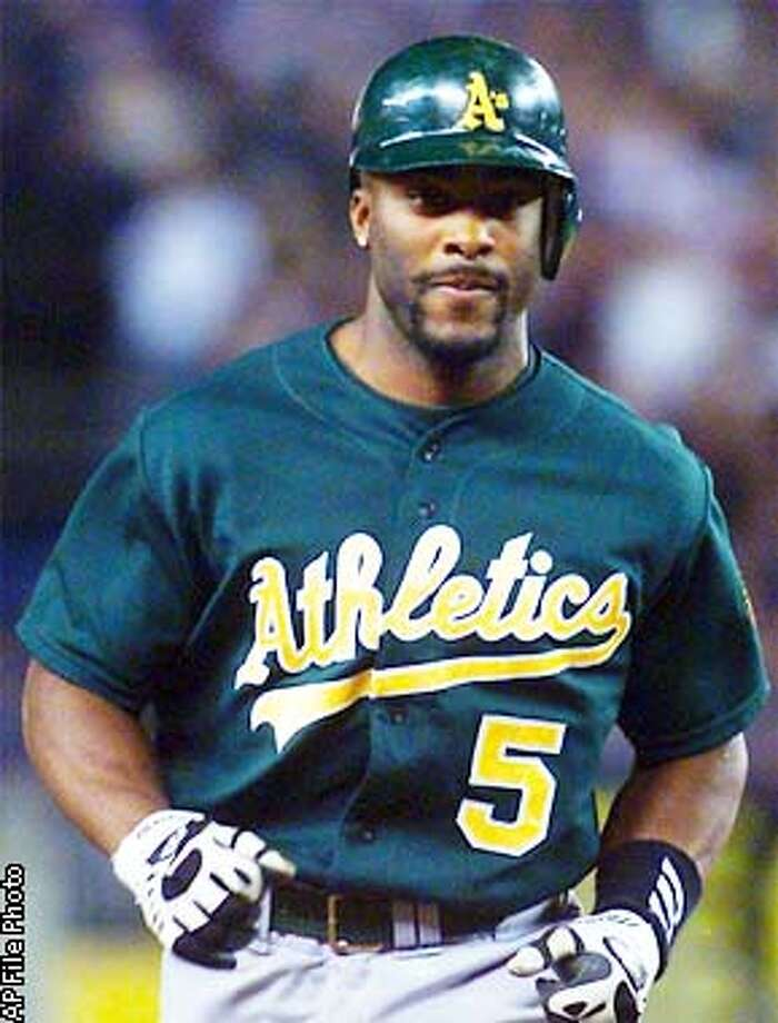 Oakland Athletics' Ron Gant rounds the bases after hitting a solo home run of New York Yankees pitcher Andy Pettitte in the fourth inning during Game 2 of the American League Division Series, Thursday, Oct. 11, 2001 at Yankee Stadium in New York. (AP Photo/Beth A. Keiser) Photo: BETH A. KEISER