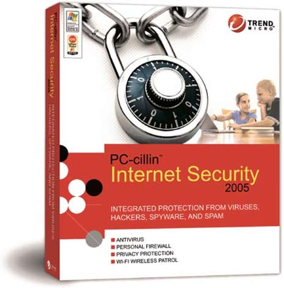 Trend Micro PC-cillin Internet Security 2005, antivirus software.