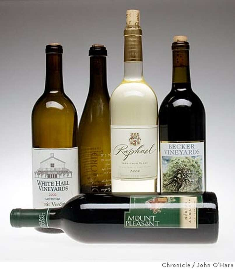 Chronicle Studio, San francisco,CA  Wines that can now be shipped into California.  Photo...John O'hara Photo: John O'hara