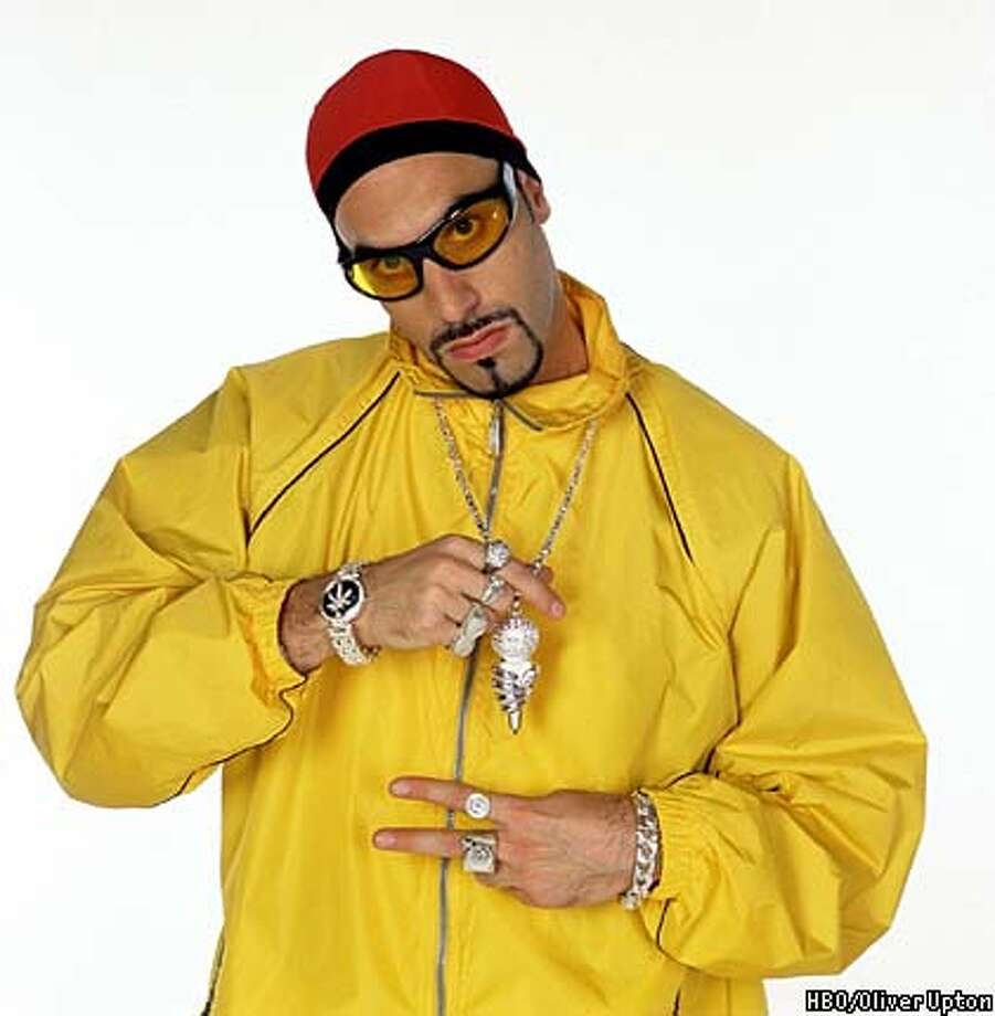 "British comedian Sacha Baron Cohen as Ali G poses in this studio publicity photo for his new HBO show. The six-episode series, ""Da Ali G Show,"" featuring Cohen as Ali G and other characters he's created, debuts at 12:30 a.m., EST, Friday, Feb. 21, 2002. (AP Photo/HBO, Oliver Upton) Photo: OLIVER UPTON"