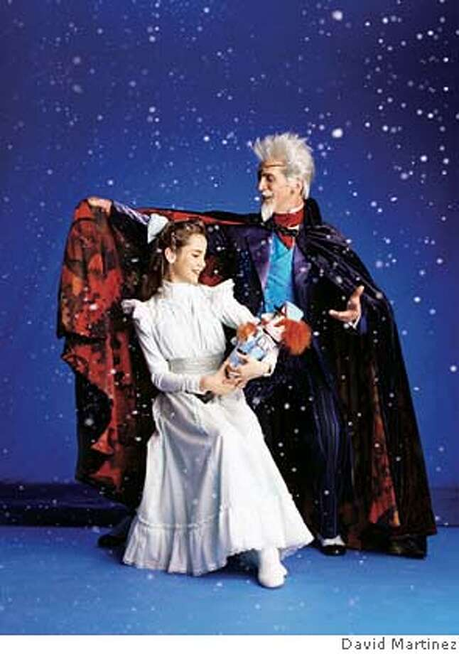 Art of the San Francisco Ballet. Drosselmeyer and Clara in Tomasson's Nutcracker. Photo by David Martinez Datebook#Datebook#Chronicle#11/23/2004#ALL#Advance##0422475789 Photo: David Martinez