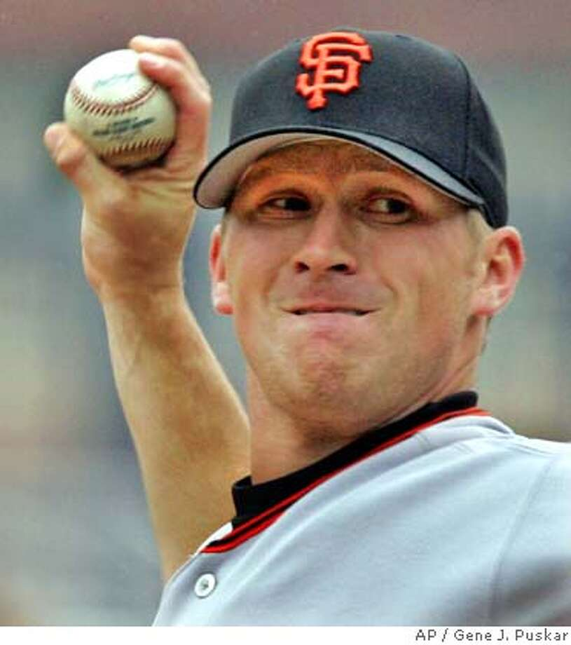 San Francisco Giants starting pitcher Brad Hennessey throws against the Pittsburgh Pirates in the first inning, Sunday, May 1, 2005, in Pittsburgh. (AP Photo/Gene J. Puskar) Photo: GENE J. PUSKAR