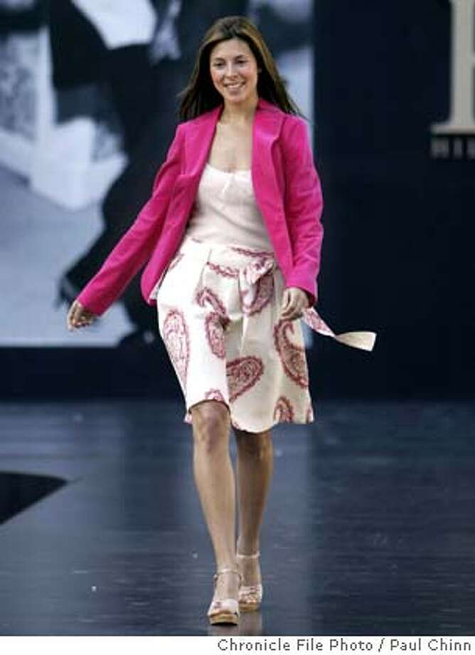 "Actress Jamie-Lynn DiScala, who portrays Meadow in ""the Sopranos"", models one of Hilfiger's designs. Tommy Hilfiger debuts his ""H Hilfiger"" collection at a Union Square fashion show on 4/3/04 in San Francisco. PAUL CHINN/The Chronicle Photo: PAUL CHINN"