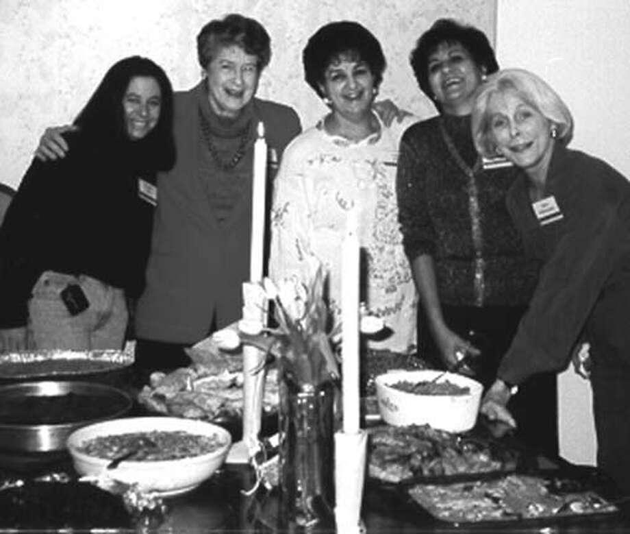 (L-R) Sandra Kahn, Doris Landman, Fanny Botto, Nahida Salem, and Carol Kittermaster.