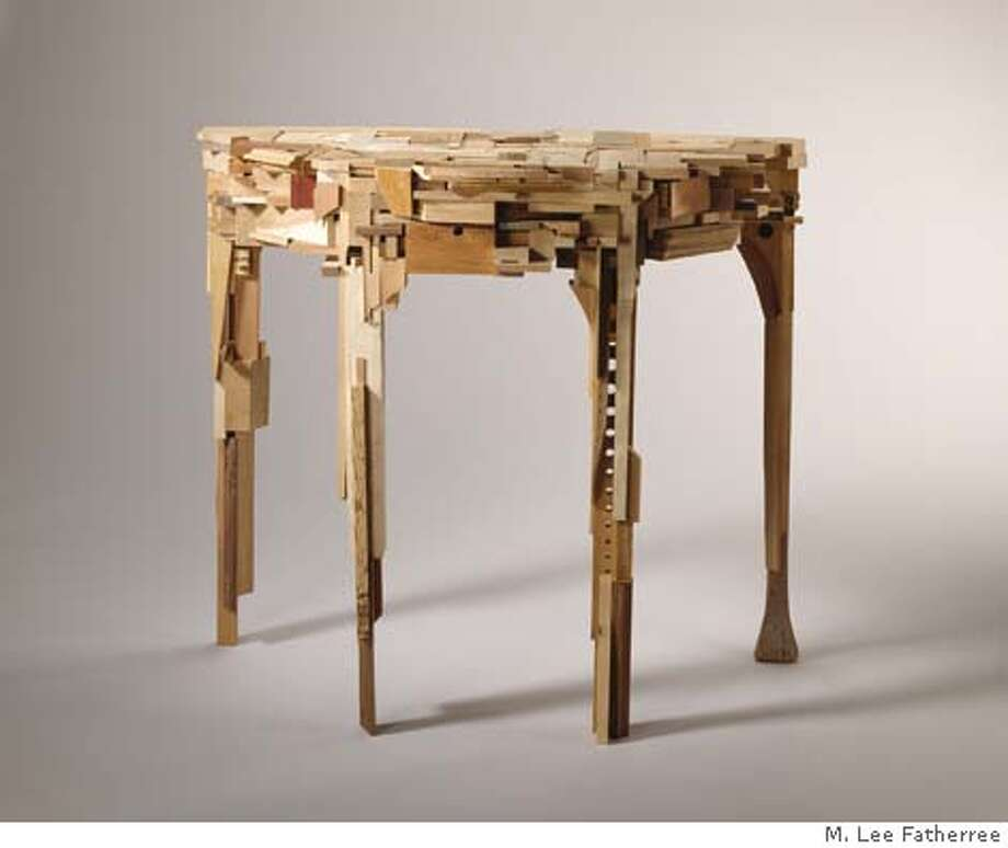 A table made of wood. Photo: M. Lee Fatherree