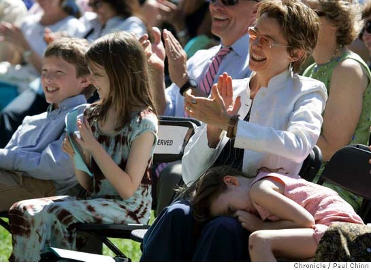 beatty22_019_pc.jpg Annette Bening, with her kids Ben, Isabel, and Ella (in her lap) listened to husband Warren Beatty's keynote. (Daughter Kathlyn is not shown). Actor Warren Beatty delivered the keynote address at graduation ceremonies for the Goldman School of Public Policy at the University of California on 5/21/05 in Berkeley, Calif. During the speech, Beatty took the opportunity to criticize Gov. Arnold Schwarzenegger's administration. PAUL CHINN/The Chronicle MANDATORY CREDIT FOR PHOTOG AND S.F. CHRONICLE/ - MAGS OUT