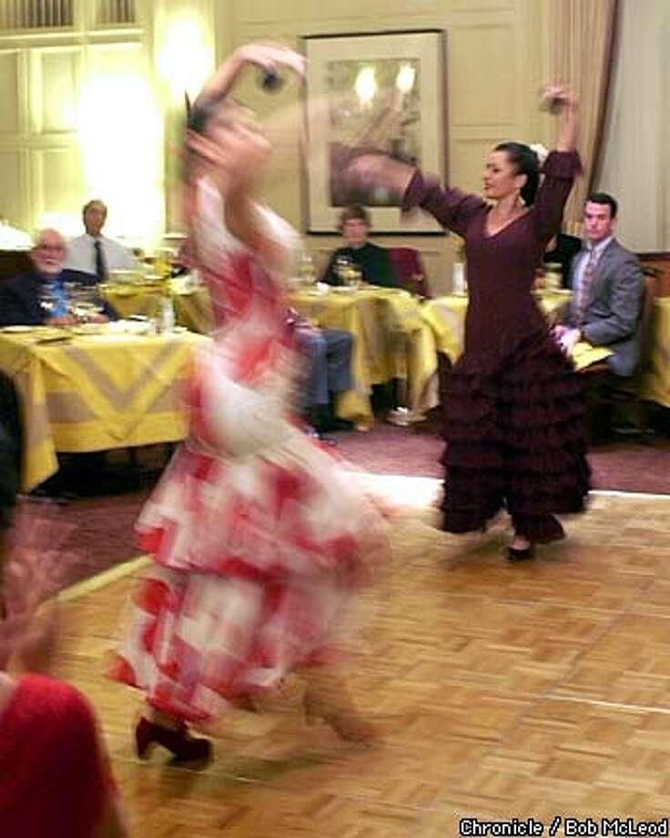 FLAMENCO13-C-07FEB03-DD-BM  Dancers Juliana Drechsel and Monica Bermudez in the Yaelisa and Camino flamenco company performing at the Mark Hopkins.  chronicle photo by Bob McLeod Photo: BOB MCLEOD