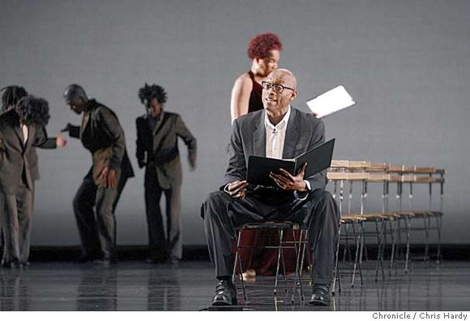 jonezane_ch_115.jpg  Bill T Jones and Rhdessa Jones read during performance of Bill T Jones and Artie Zane Dance Company's Reading, Mercy and the Artificial Nigger in San Francisco  5/19/05 Chris Hardy / San Francisco Chronicle Photo: Chris Hardy