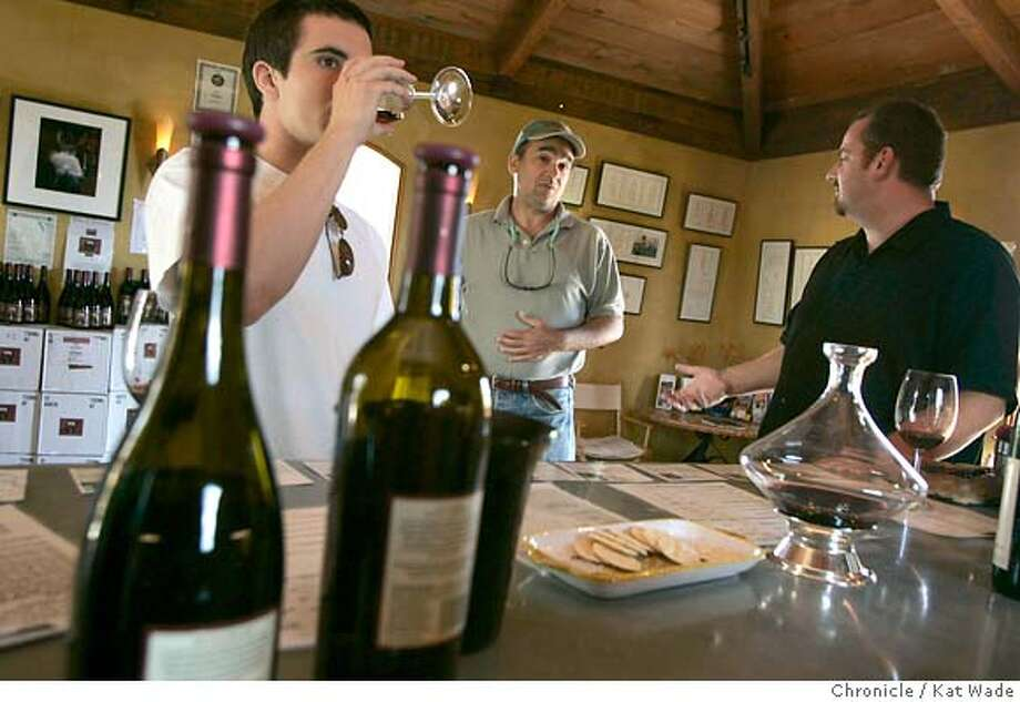 On 5/16/05 in the Napa owner/winemaker, Ernie Weir, poses for a portrat and works in the tasting room of his Napa Valley family owned winery, Hagafen, after learning about the supreme court decision today concerning state to state direct sales. Kat Wade/ The Chronicle Photo: Kat Wade