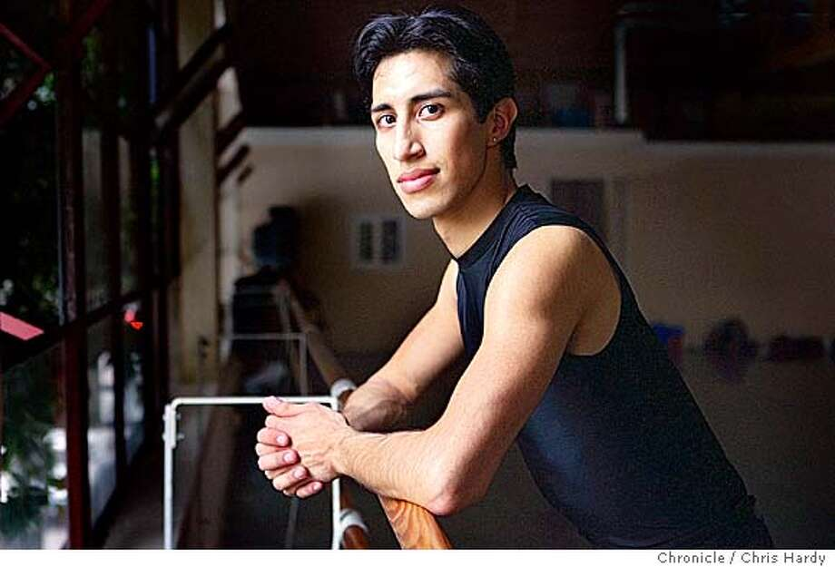 Pedro Gamino, a Daly City guy, who is one of the principal dancers of Smuin Ballet.  Smuin Ballet is rehearsing for its annual off-the-wall Christmas show soon in Mountain View, Walnut Creek and San Francisco. in San Francisco,CA on 11/16/04  San Francisco Chronicle/Chris Hardy Photo: Chris Hardy