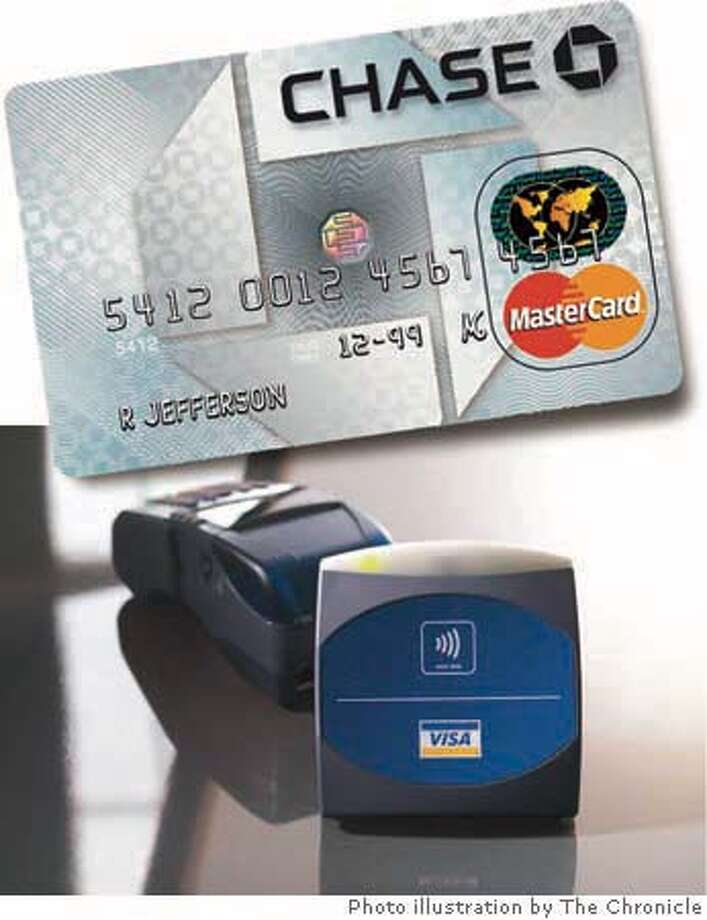 The contactless card reader dispenses with magnetic strips. Chronicle Photo Illustration