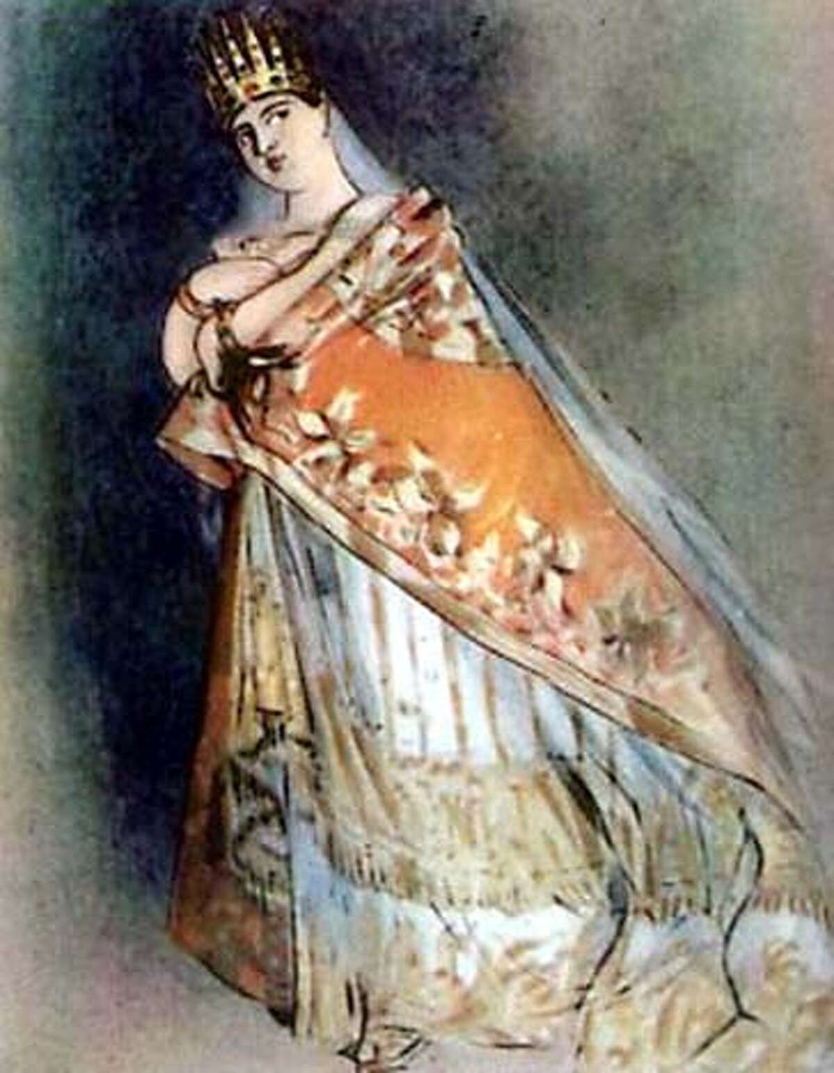 Opera singer Giuditta Pasta in a painting by Alfred Edward Chalon (detail): Oh, to have seen her in person.
