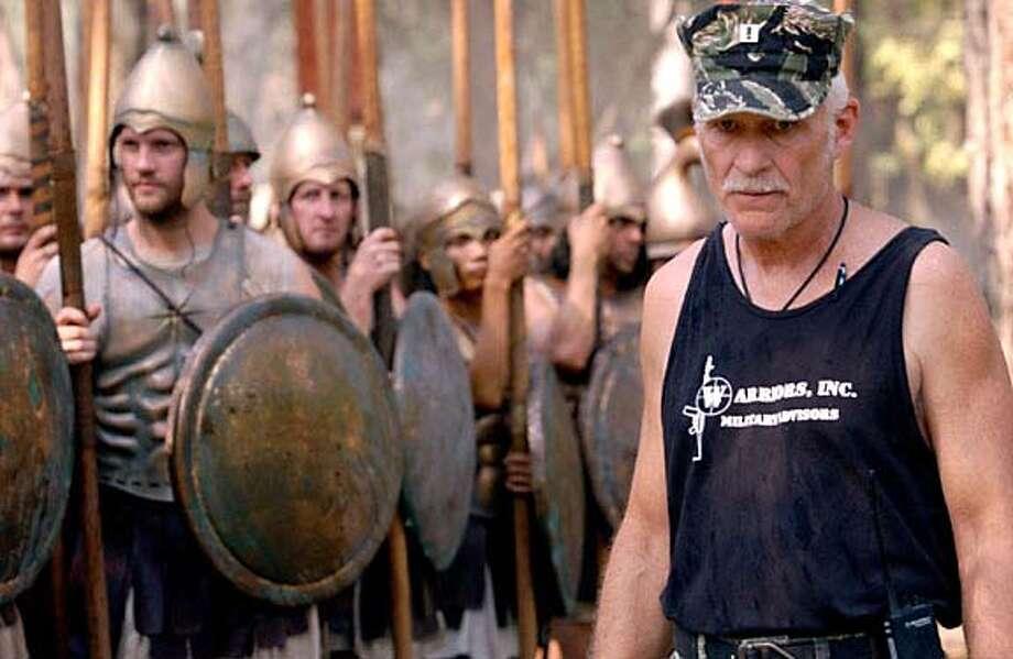 "Capt. Dale Dye, military advisor for the movie ""Alexander,"" on the movie's set. HANDOUT Datebook#Datebook#SundayDateBook#11-21-2004#ALL#Advance##0422460008"