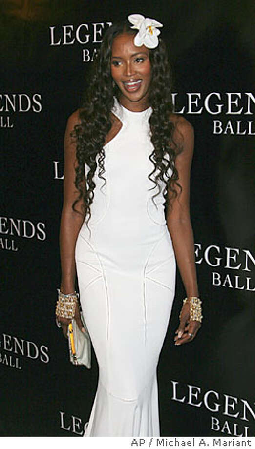 Naomi Campbell arrives at the , an award ceremony hosted by Oprah Winfrey honoring women who paved the way in arts, entertainment and civil rights, Saturday, May 14, 2005 in Santa Barbara, Calif. (AP Photo/Michael A. Mariant) Photo: MICHAEL A. MARIANT
