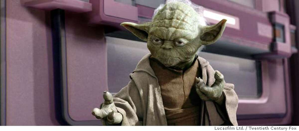 """Jedi Master Yoda knows that there are times when being a pacifist just won't work in """"Star Wars Episode III: Revenge of the Sith."""""""