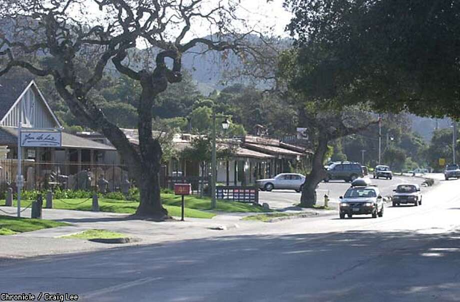 Carmel Valley Road, some of it lined with antique shops and galleries, meanders through the valley. Chronicle photo by Craig Lee
