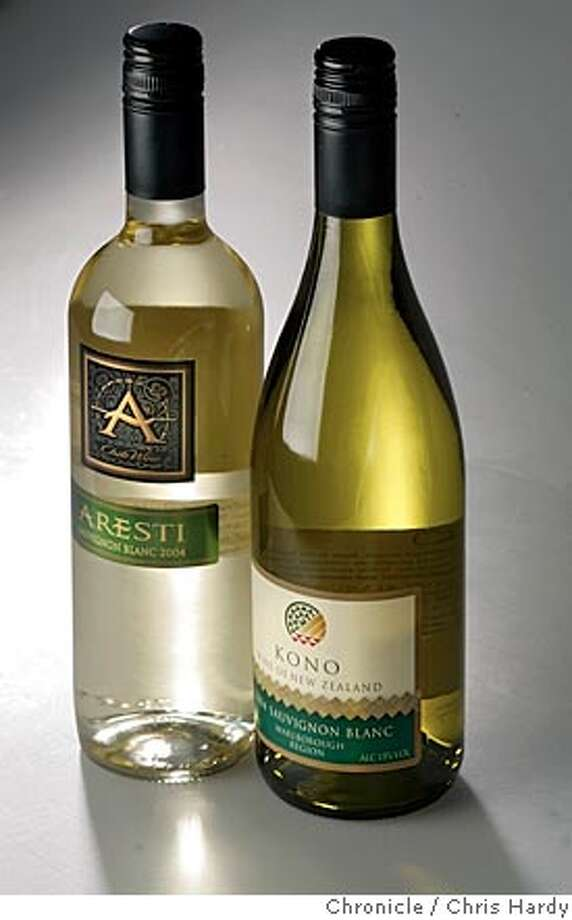 Bargain wines: 2004 Aresti Curico Sauvignon Blanc  and 2002 Kono Marlborough Sauvignon Blanc in San Francisco  5/12/05 Chris Hardy / San Francisco Chronicle Photo: Chris Hardy