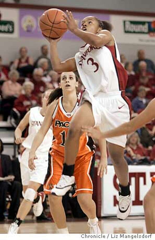 _L8G0184.JPG Event on 11/21/04 in Santa Clara.  Stanford's #3 Markisha Coleman goes up for a basket in the 2nd half. Stanford women's basketball team plays Pacific at Santa Clara University.  Liz Mangelsdorf / The Chronicle Photo: Liz Mangelsdorf