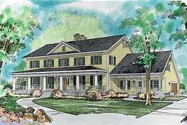 This artist rendering courtesy of Hanley Wood Home Plans shows House of the Week HMAFAPW00431. This home boasts historical charm while retaining the comfort of modern amenities.