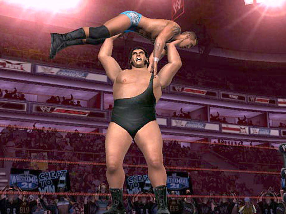 The game is WrestleMania 21 for the Xbox.