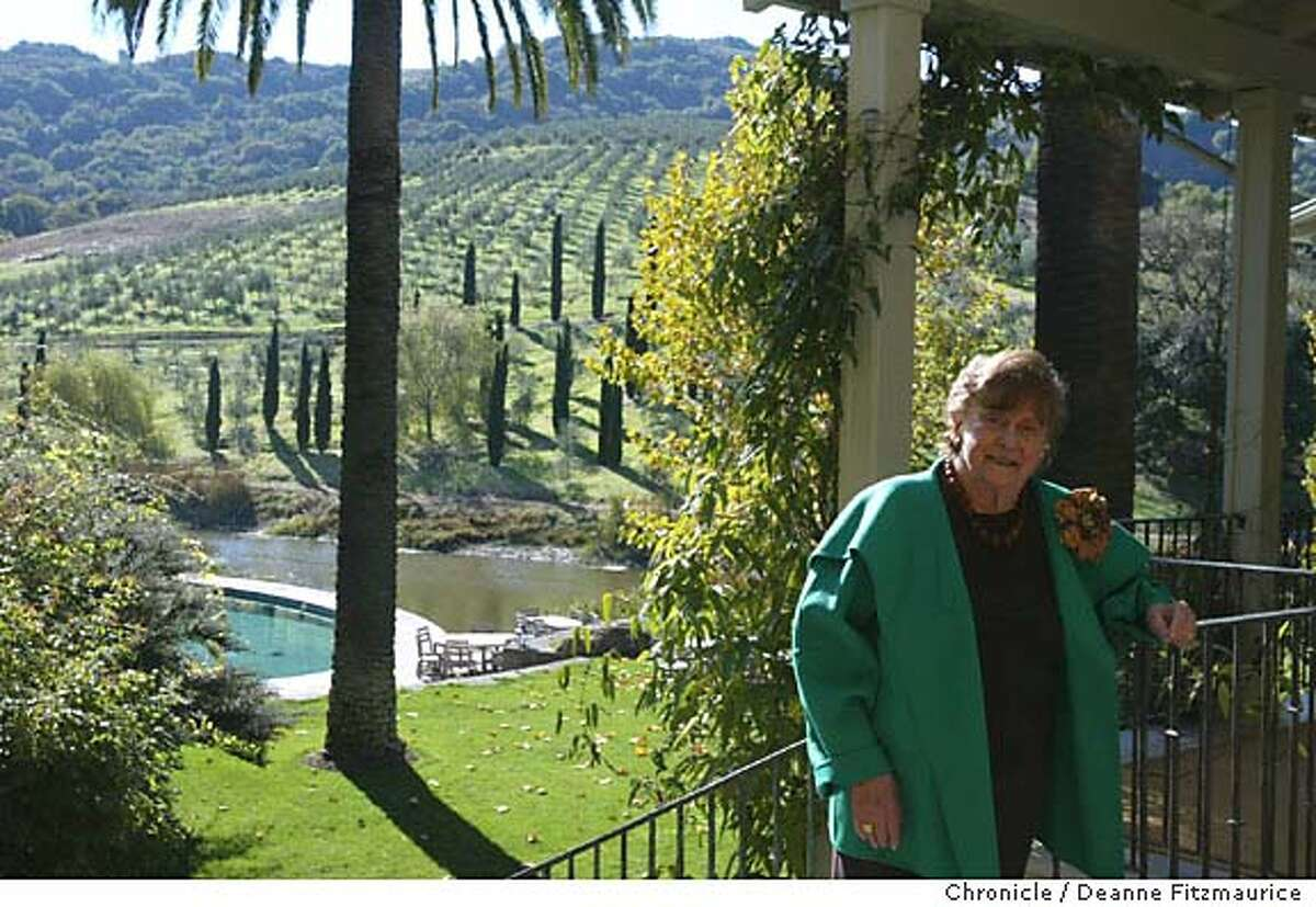 mcevoy_200_df.JPG Nan Tucker McEvoy has her annual olive harvest party at her ranch in Petaluma. Deanne Fitzmaurice / The Chronicle MANDATORY CREDIT FOR PHOTOG AND SF CHRONICLE/ -MAGS OUT Living#Living#Chronicle#11/21/2004#ALL#Advance#M1#0422466753