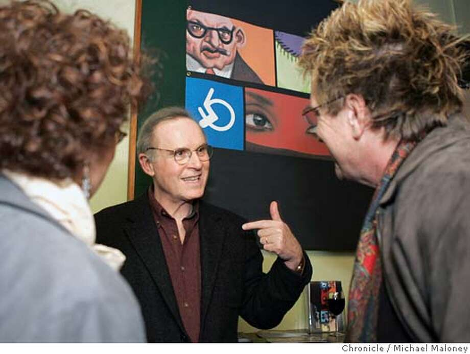 "GRODIN_013_MJM.jpg  Actor Charles Grodin and now a playwright, attended a reception for him and his new play ""The Right Kind of People"" at the Magic Theater in SF. Photo by Michael Maloney / San Francisco Chronicle MANDATORY CREDIT FOR PHOTOG AND SF CHRONICLE/ -MAGS OUT Datebook#Datebook#Chronicle#11/18/2004##Advance##0422469739 Photo: Michael Maloney"