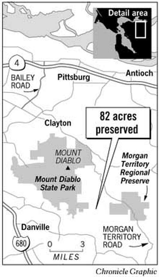 Galvin Ranch in the Morgan Territory. Chronicle Graphic