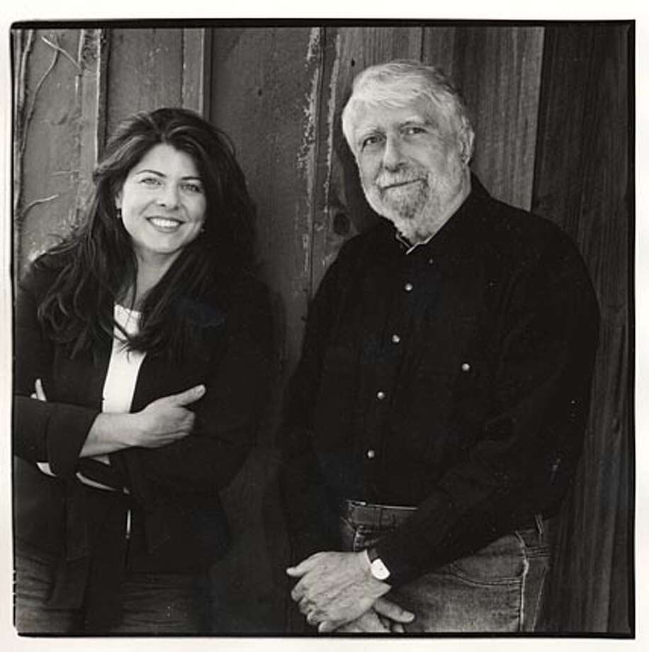 Photo of author Naomi Wolf and her father, Leonard Wolf. BookReview#BookReview#Chronicle#05-15-2005#ALL#2star#b3#0422876295