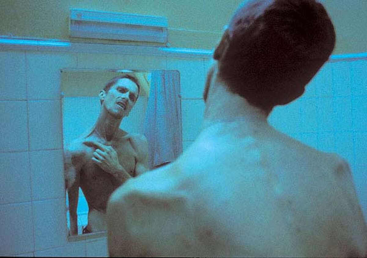 THIS PHOTO IS SUPPOSED TO BE VERY BLUE Christian Bale in the movie The Machinist. Datebook#Datebook#SundayDateBook#11-21-2004#ALL#Advance##0422432516