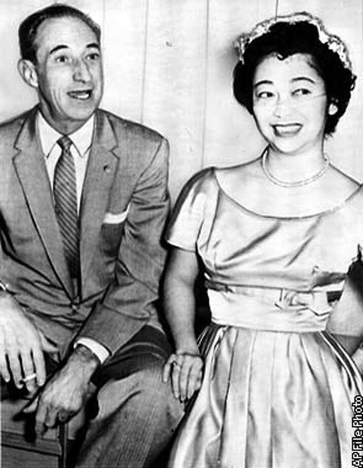 1958 AP WIREPHOTO  NORIKO SAWADA AND HARRY BRIDGES IN 1958 Photo: HANDOUT