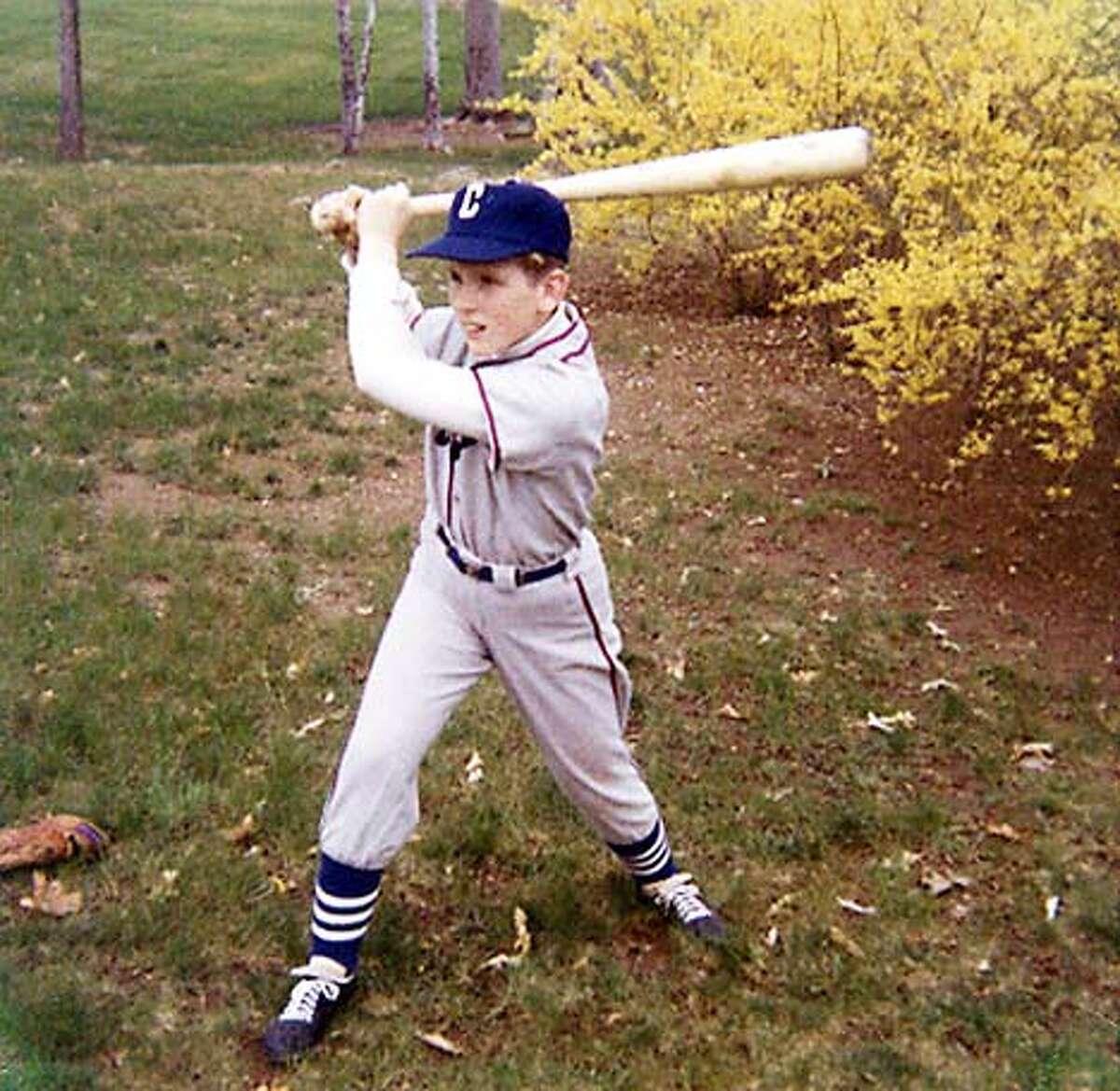1965: Frank Bennett at age 10, practicing for Little League baseball in New York. Photo courtesy of Fran Bennett