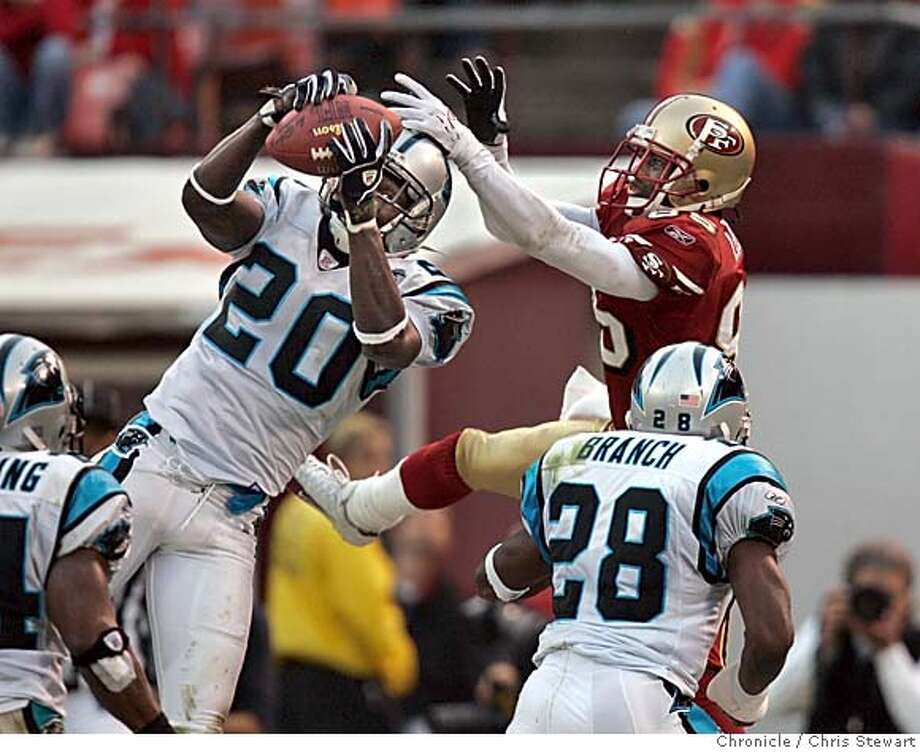 Event on 11/14/04 in San Francisco.  � The San Francisco 49ers were beaten 37-27 today by the Carolina Panthers at Monster Park. Chris Stewart / The Chronicle Photo: Chris Stewart