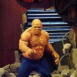 F4-141	In FANTASTIC FOUR, Michael Chiklis portrays Ben Grimm, aka The Thing, a superhuman, super-strong creature with an irreversible orange-colored rocky exterior. Photo credit: Kerry Hayes  TM and � 2005 Twentieth Century Fox. All rights reserved. Not for sale or duplication. Fantastic Four character likenesses TM and � 2005 Marvel Characters, Inc. All rights reserved.