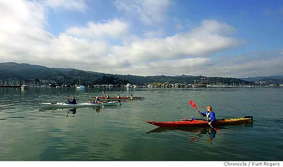 Sea Trek in Sausalito runs Kayak trips in Richardson Bay and along the Sausalito water front . 10/30/04 in Sausalito,CA.  KURT ROGERS/THE CHRONICLE Photo: KURT ROGERS