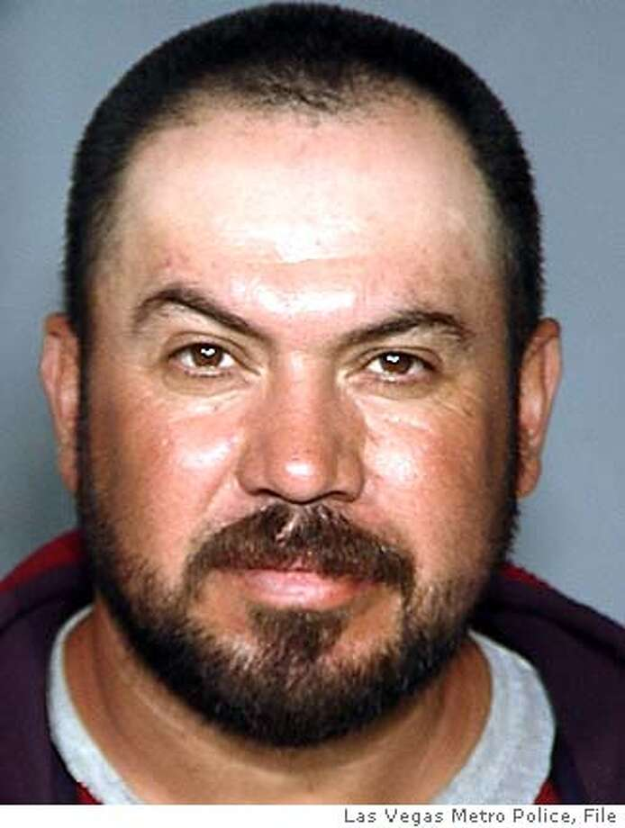 This photo released by the Las Vegas Metro Police Department on Thursday, May 5, 2005, shows Jamie Placencia, 43, the husband of Anna Ayala, the Las Vegas woman who claimed to have found a human finger in her food at a Wendy's Resturaunt. Placencia was arrested Wednesday on a fugutive warrant on unrelated charges.(AP Photo/Las Vegas Metro Police)