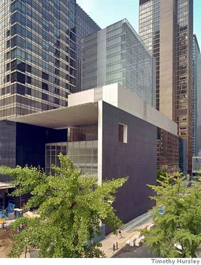 Exterior view of the David and Peggy Rockefeller Building from West 54th Street, The Museum of Modern Art, designed by Yoshio Taniguchi. Photo (C) 2004 Timothy Hursley