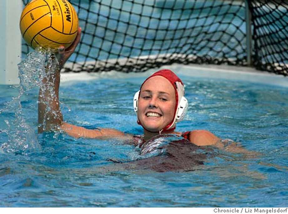 stanfordathletes174_lm.JPG Event on 5/9/05 in Palo Alto.  Stanford women's water polo goalie Meridith McCall during practice at Avery Aquatic Center at Stanford University.  Liz Mangelsdorf / The Chronicle MANDATORY CREDIT FOR PHOTOG AND SF CHRONICLE/ -MAGS OUT Photo: Liz Mangelsdorf