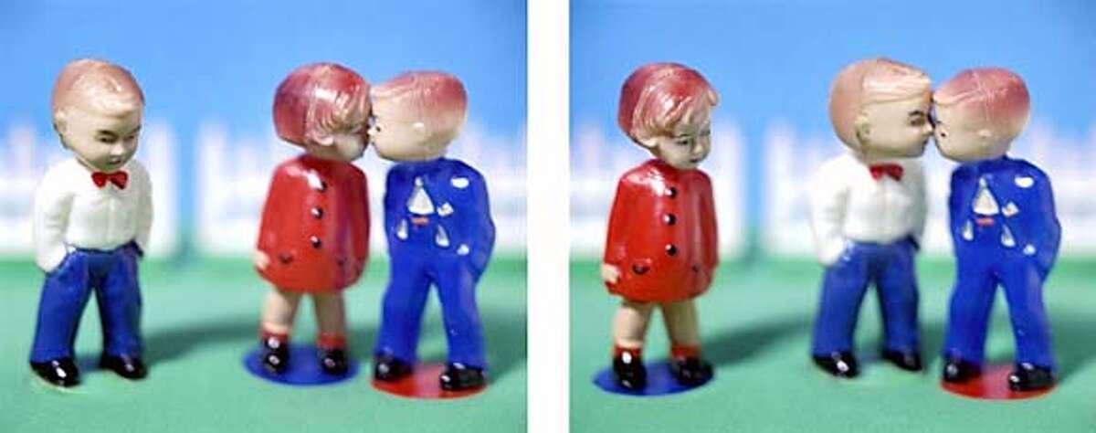 Davis & Davis �Kissers (1) & (2)� (diptych) (from the Childish Things series) Chromogenic print, 2002